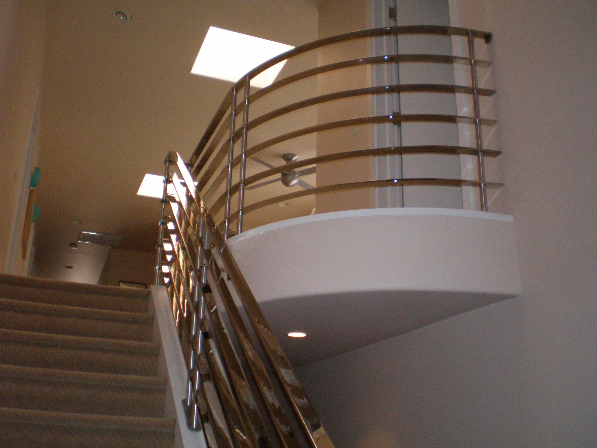Custom Chrome Plated Railing