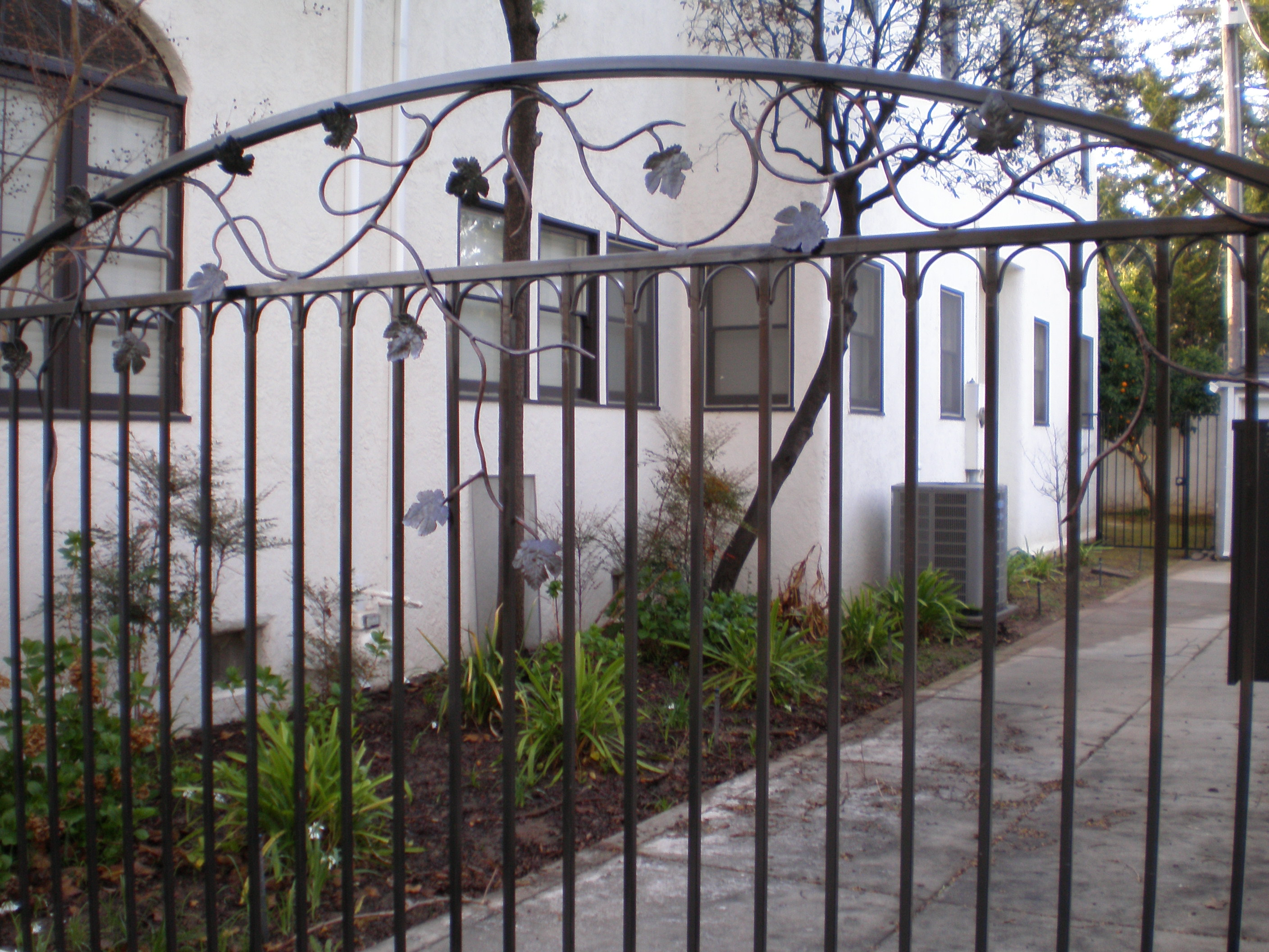 Ornamental railing panels - Light Custom Ornamental Iron Driveway Gate