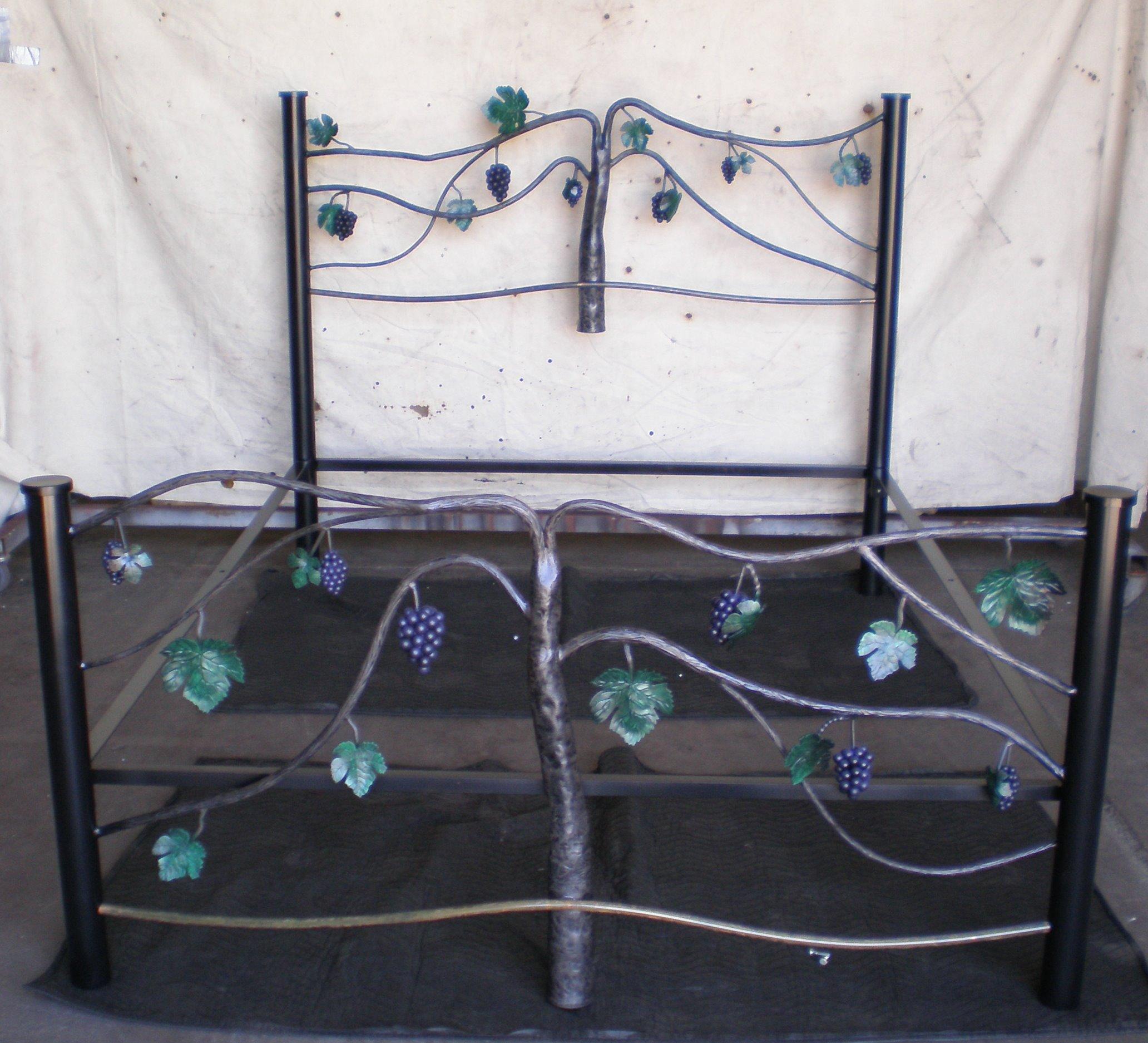 Custom Hand Forged Vineyard Bed