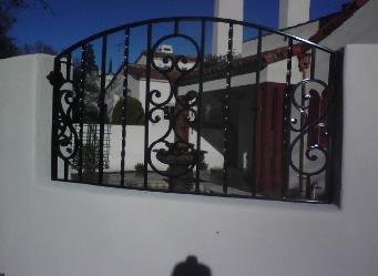 custom wrought iron fence panel