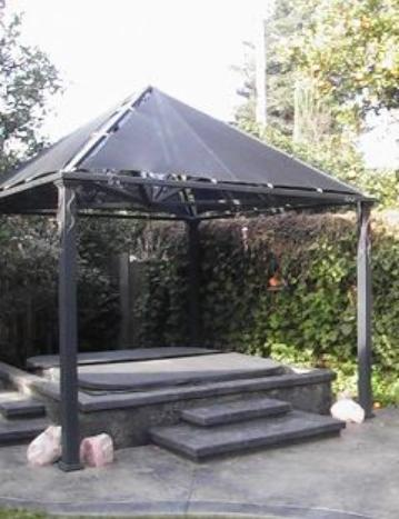 Steel Shade Structure. Custom Patio Cover